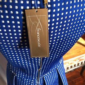 Francesca's Blue and White Dress- Medium- NWT